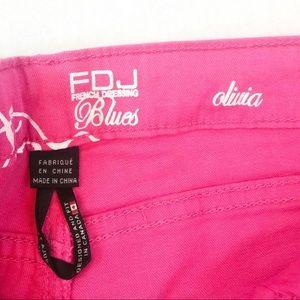 FDJ French Dressing Pants - FDJ French Dressing Blues Olivia pink slim Capri